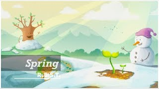 Spring | REST project | Relax, Piano, Meditation, Music, ASMR, Peace, Angel, Illustration