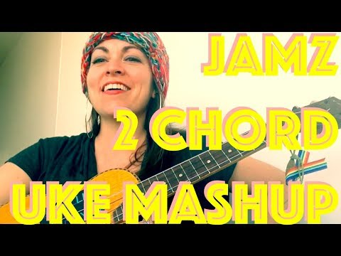 2 CHORDS 5 SONGS Ukulele MASHUP Lesson HIP-HOP/DANCE How to Play 5+ Songs Tutorial Strumming