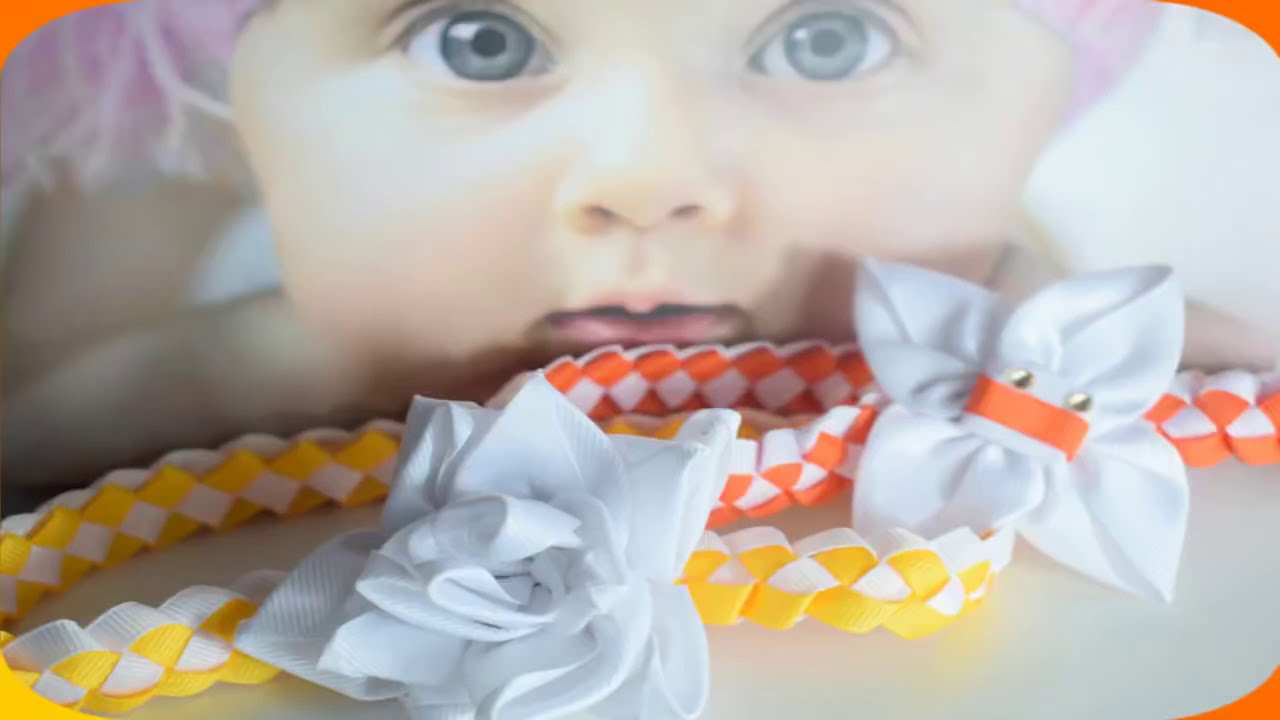 Diadema cintillos para bebe paso a paso margari youtube - Lazos grandes para decorar ...