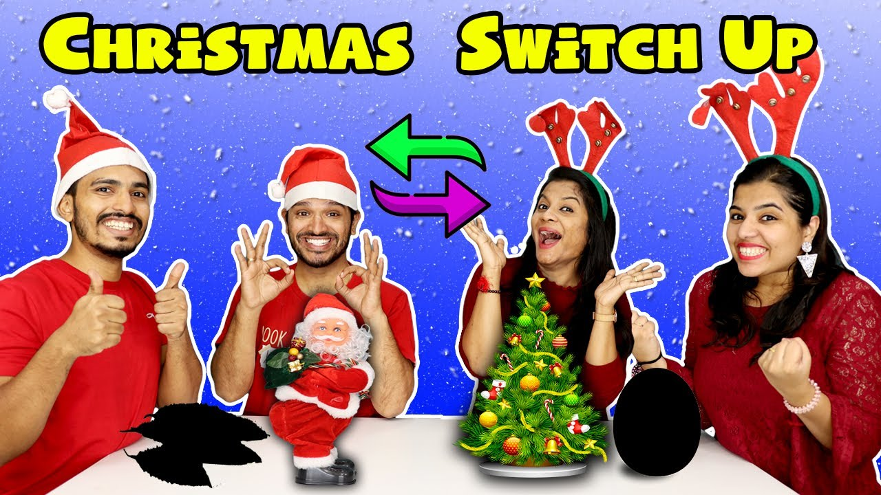 Christmas Special Switch Up Challenge | Christmas Gifts Exchange Challenge | Hungry Birds