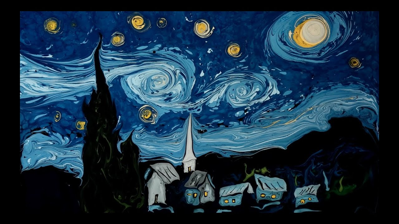 Van gogh on dark water youtube for Paint a dark picture