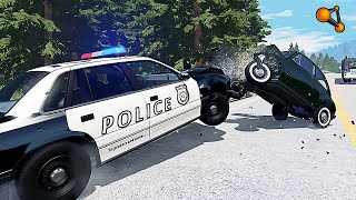 BEAMNG DRIVE MOVIE - POLICE POURSUITE #2