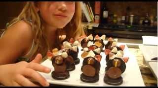 Sarah-grace Loving Food - Making Turkey Candy Kids Thanksgiving Dessert