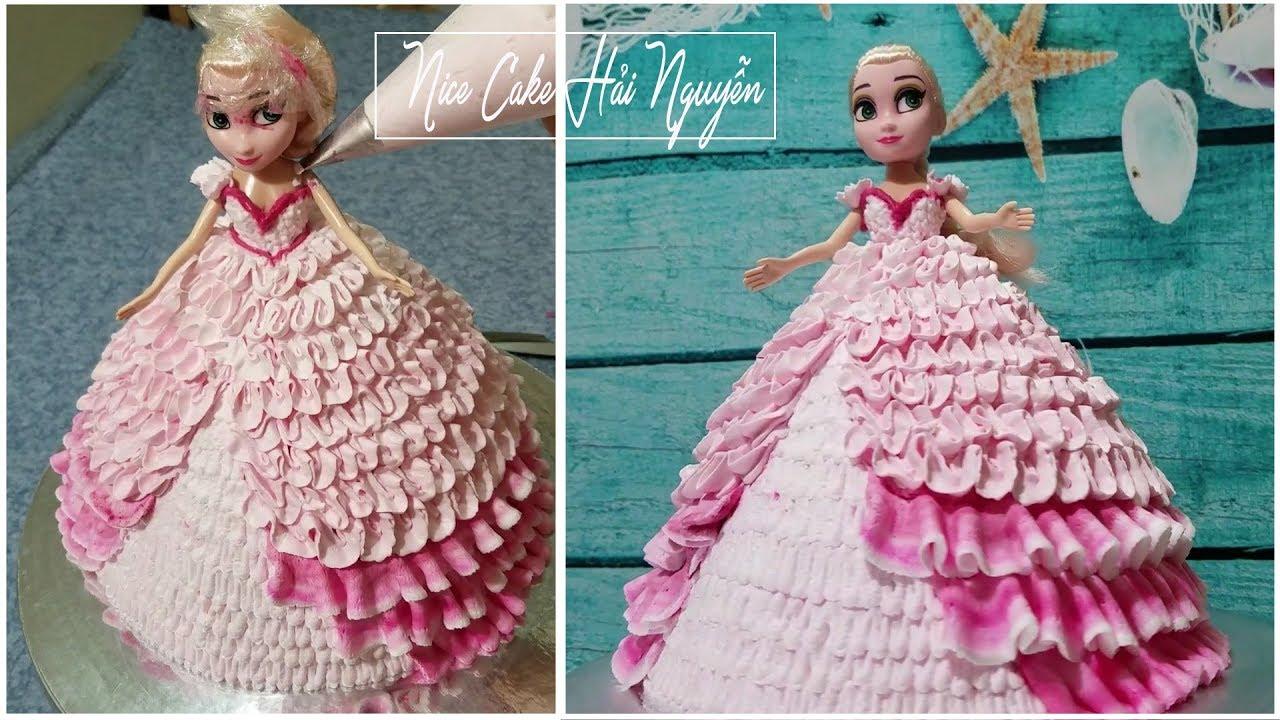 Bánh Sinh Nhật Búp Bê Elsa Đẹp Và Đơn Giản – Decorate Elsa Doll Cake