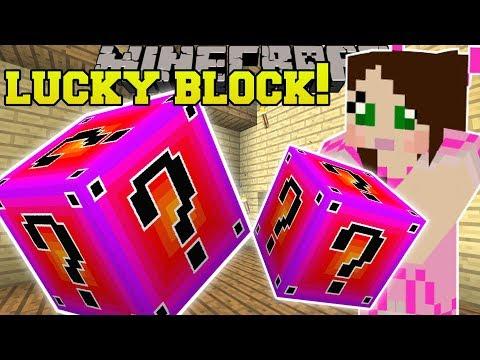 Minecraft: LUCKY BLOCK RANDOM! (1 MILLION DAMAGE WEAPONS & INSANE ARMOR!) Mod Showcase
