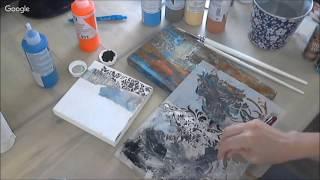 Акриловые краски и эффект ржавчины в микс медиа декоре видео мастер-класс Натальи Жуковой