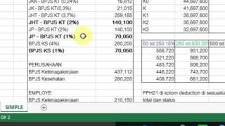Tutorial Slip Gaji Karyawan Excel   Bpjs Pph21   2016 - Free Download