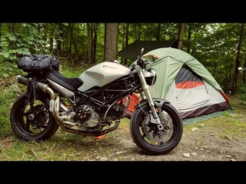 Motorcycle Camping With Friends: Riding To The Campsite