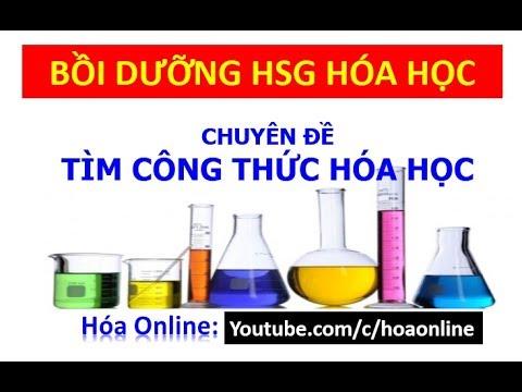 Tìm công thức hóa học – Bồi dưỡng HSG hóa học