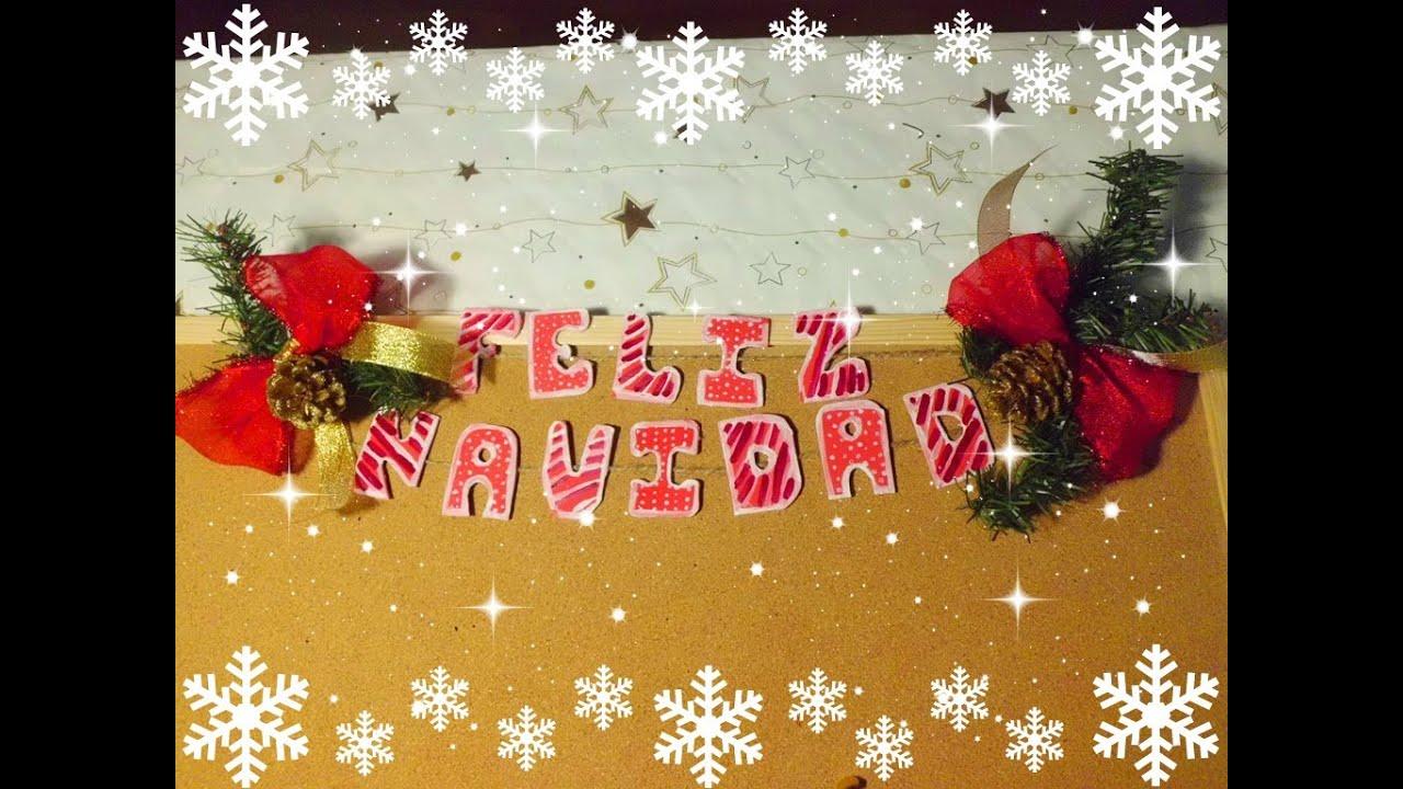 Letrero en goma eva o foamy manualidades para navidad for Manualidades con goma eva para navidad