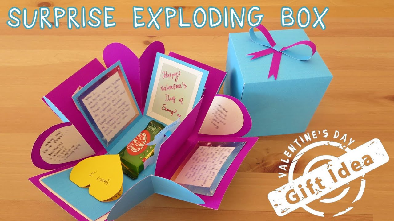 2 gift idea surprise exploding box sunny diy youtube solutioingenieria Image collections