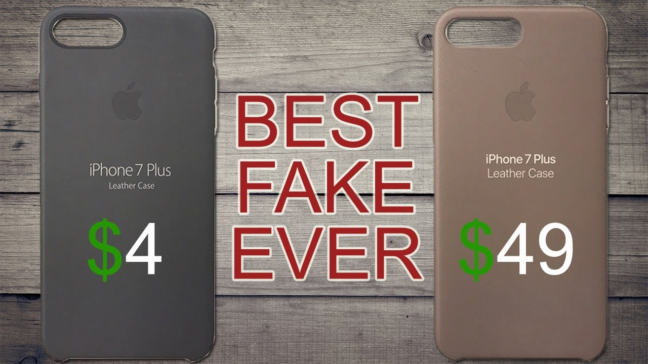 $4 Fake Apple iPhone 8/7 leather case vs $49 Apple iPhone 8/7 leather case