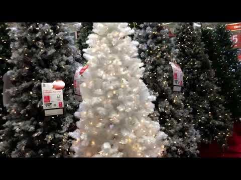 Home Depot Christmas Tree display