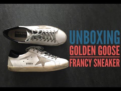 Golden Goose Deluxe Brand Sneaker | UNBOXING | luxury shoes | Superstar Francy | HD