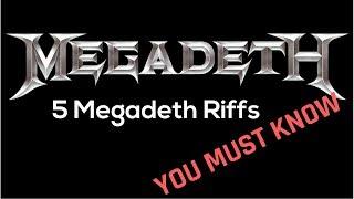 5 Essential Megadeth Riffs You Must Know - Steve Stine Guitar Lessons