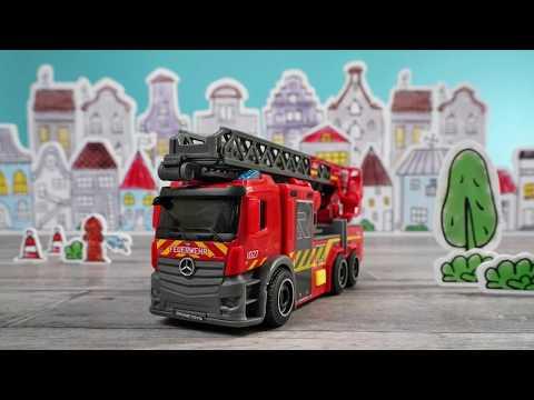 Spielzeug Drehleiter klein - Rosenbauer & Dickie Toys