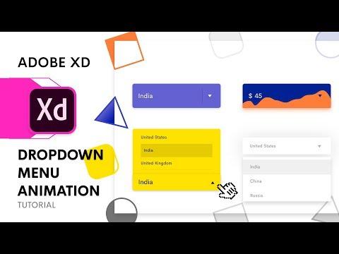 Dropdown Menu Animation in Adobe Xd   Auto Animate Tutorial   Design Weekly