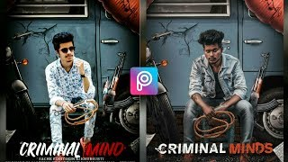 sony jackson criminal minds photo editing tutorial in PicsArt step by step in hindi