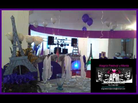 15 a os tem tica paris youtube - Decoraciones de bares ...