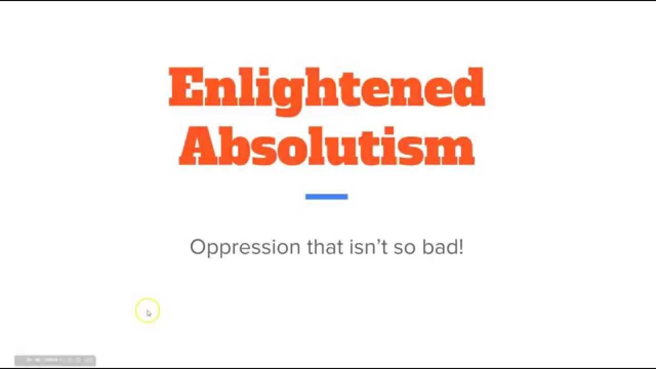 enlightened absolutism