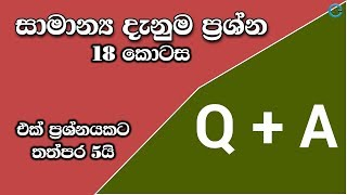 General Knowledge Questions and Answers in Sinhala - Part 18 | Shanethya TV