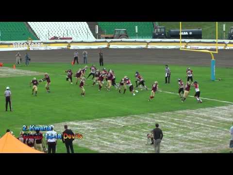 Topliga PLFA: Giants Wrocław-Devils Wrocław (8.06.2013) Skrót Meczu