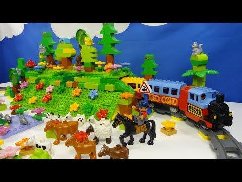 Строим из Lego Duplo, Build And Play Toys Lego, Лего Дупло - Railway Tunnel #1(железная дорога)
