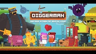 Diggerman - arcade story of mud & love (by DIGITAL MELODY GAMES) - Gameplay Video