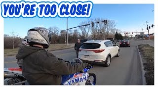 ANGRY GUY TRIES TO RUN OVER RIDER