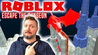 FANGET I FÆNGSLET! - Roblox Escape The Dungeon Obby Dansk