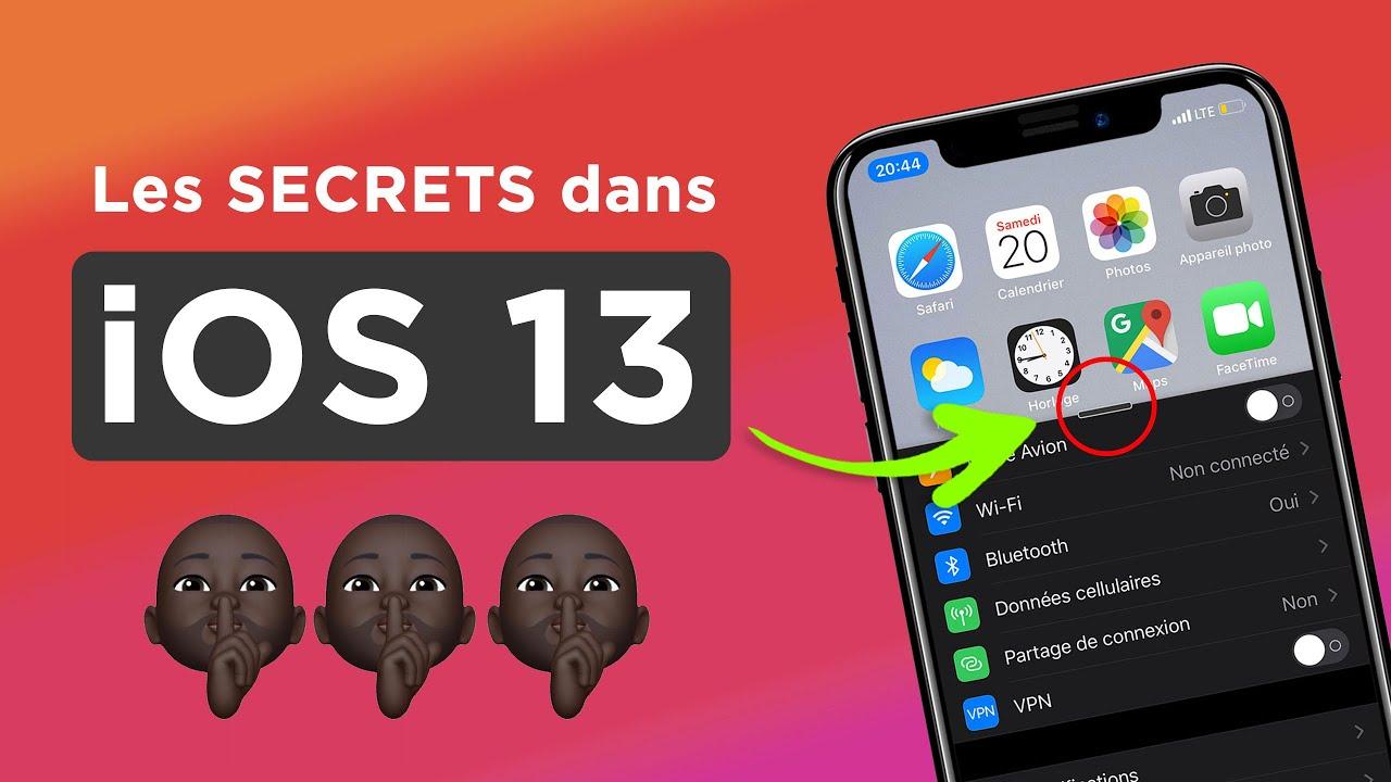 Les secrets dans iOS 13.