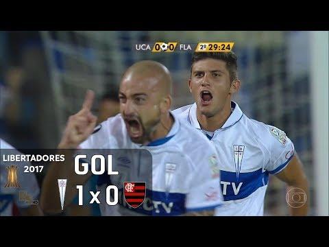 Gol - Universidad Católica (CHI) 1 x 0 Flamengo - Libertadores 2017 - Globo HD
