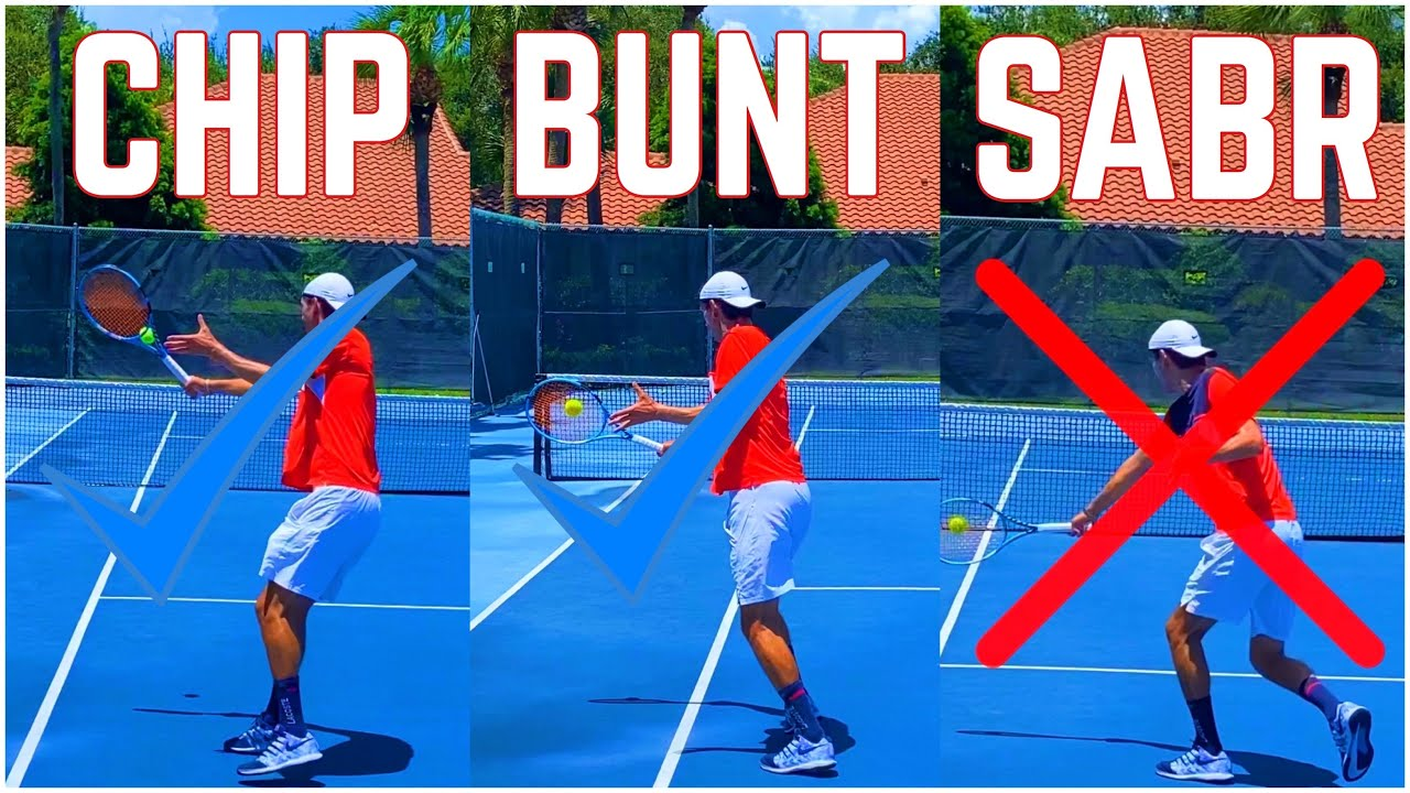 How to Hit the Chip and Charge, Bunt and SABR Return of Serve