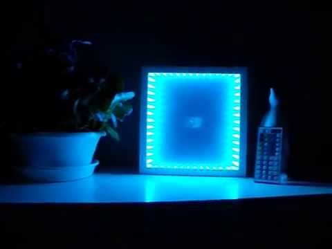 quadrat als led leuchte 3d illusion infinity mirror youtube - Led Stripes In Der Dusche