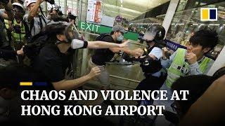 As it happened: Chaos and violence at Hong Kong airport