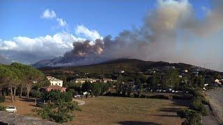Incendies en haute corse: les opérations d'extinction continuent