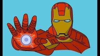 Рисуем все / Рисуем Железного Человека / Урок 24(Привет друзья! В этом видео я покажу вам, как легко нарисовать железного человека! Ставьте палец вверх а..., 2016-10-16T12:46:17.000Z)