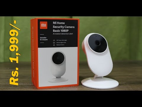 Mi Home Security Camera Basic 1080p Unboxing, Installation And Sample Now In India For Rs. 1,999