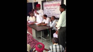 Ram lal Jat- MLA Bhilwara - addressing people of Bavlash