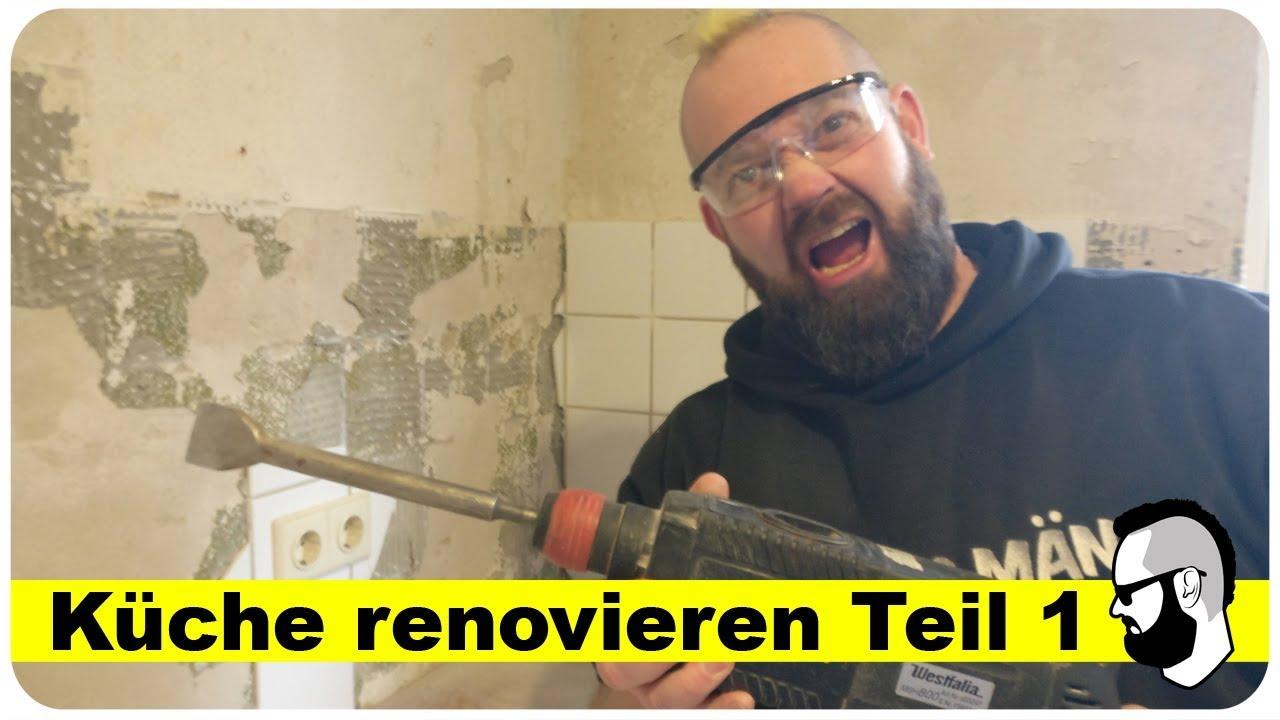 Küche renovieren aus alt mach neu [Ideen & Tipps] Teil 1 - YouTube