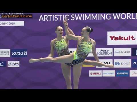 Charlotte & Laura Tremble (FRA) Duet Technical Final Japan Open 2018