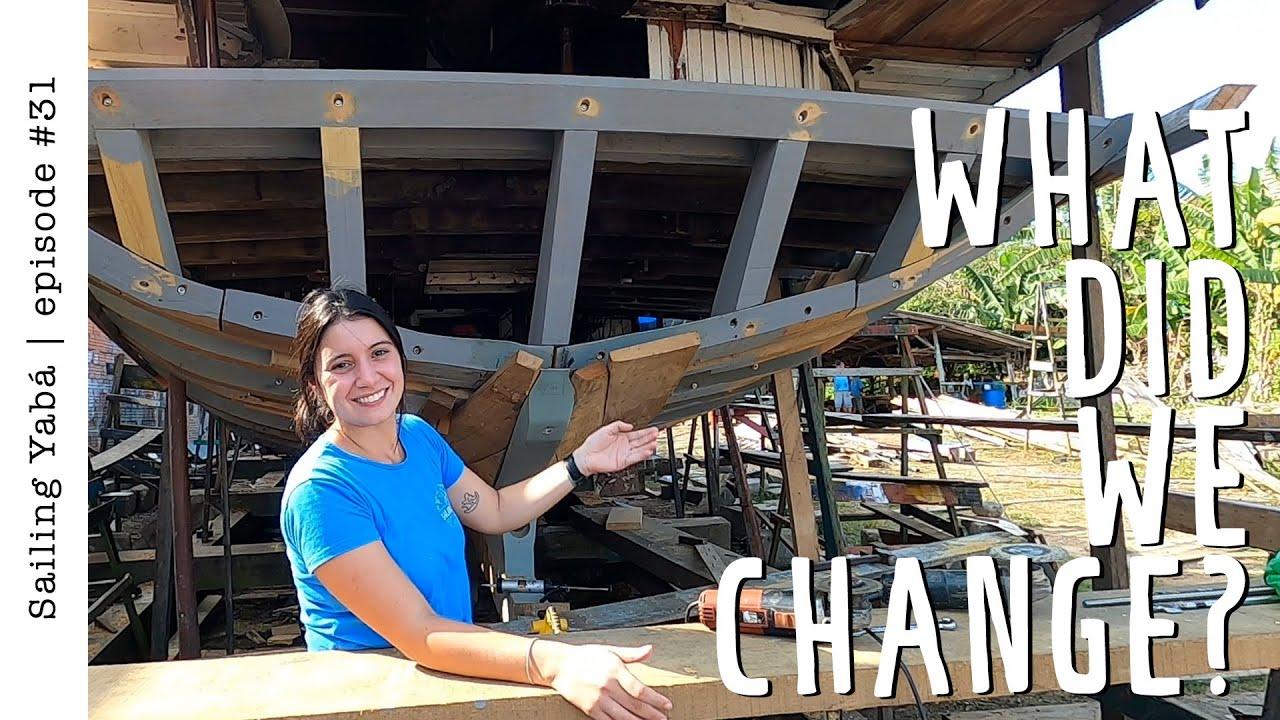 Wooden schooner rebuild: TRANSOM! — Sailing Yabá #31