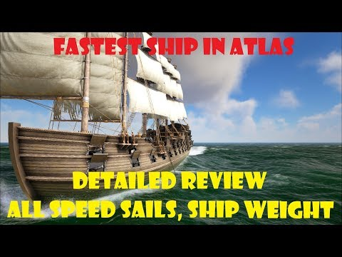 I performed multiple tests using speed sails on each ship type to