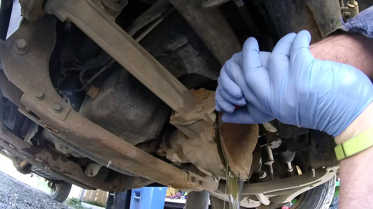 F Front Differential Oil Change