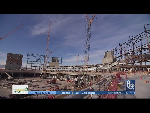 Raiders stadium 27 percent complete on 1 year anniversary of