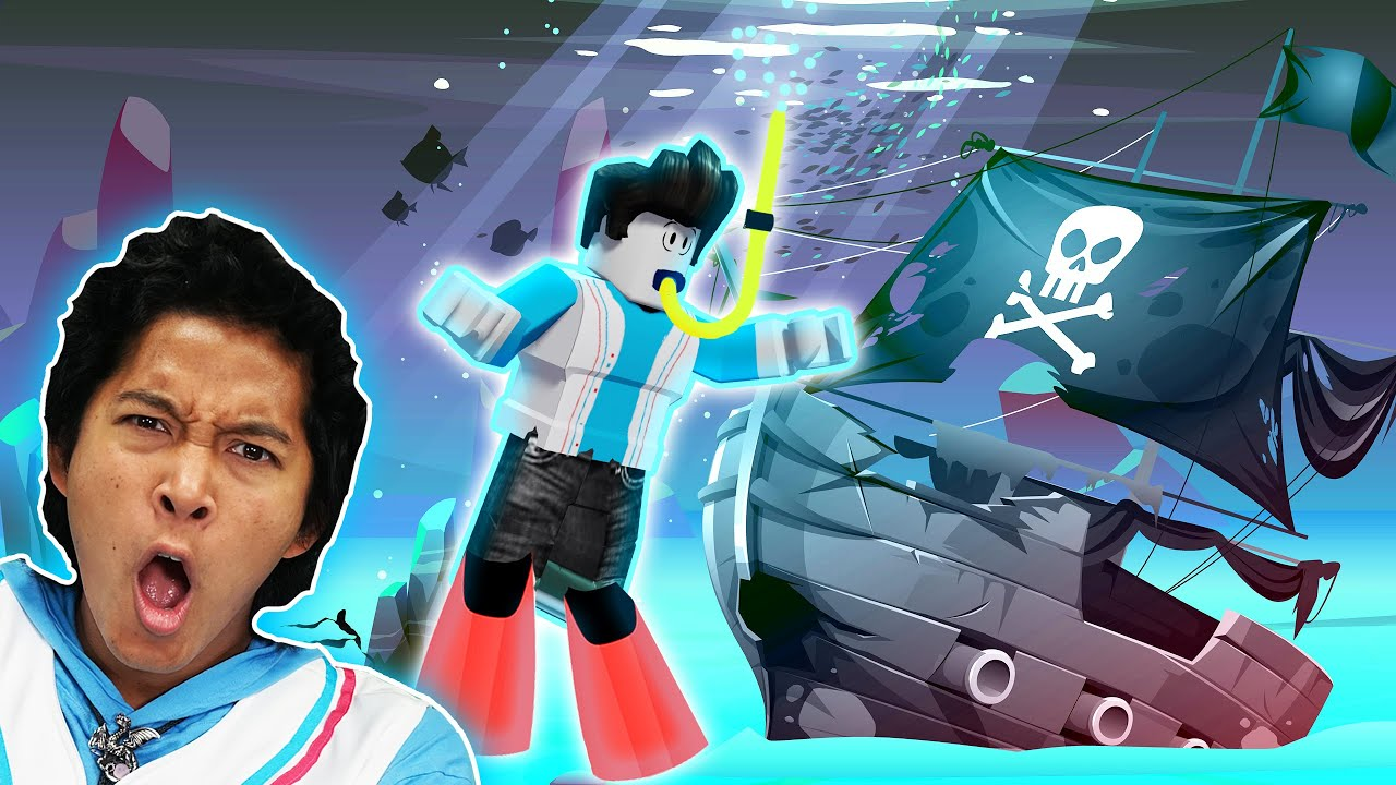 DEEP SEA SCUBA DIVING FOR PIRATE TREASURE in Roblox! MarMar Finds the Secrets of Quill Lake!