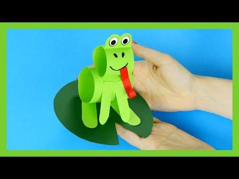 Simple Paper Frog Craft - Step by Step Tutorial