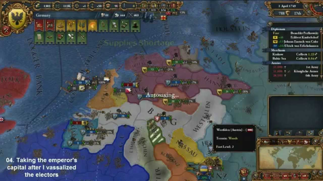 Dismantling the HRE as Germany (Europa Universalis IV)