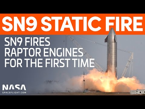 Starship SN9 Static Fire - SpaceX Boca Chica