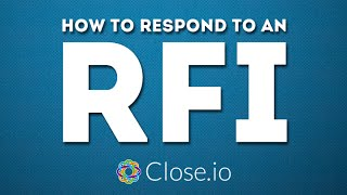 """How to respond to an RFI?"" (Request For Information) - sales advice by @steli"